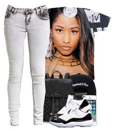 """unknown"" by nasiaswaggedout ❤ liked on Polyvore featuring Nicki Minaj and Lipsy"