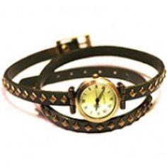 Britanny Wrap Watch Leather Bracelet Green