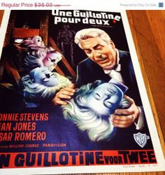 ON SALE Vintage 1965 Horror Movie Poster Two on by DeNuevoVintage, $30.60