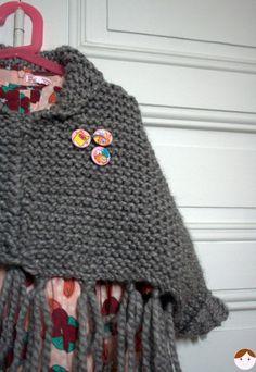 Poncho en laine (modèle Phildar)