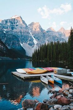kayaking on Moraine Lake // travel // adventure // wanderlust // Places To Travel, Places To See, Travel Destinations, Winter Destinations, Lago Moraine, The Mountains Are Calling, Belle Photo, Wonders Of The World, Adventure Travel