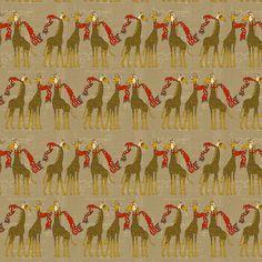 flightschool_safari_red_small fabric by holli_zollinger on Spoonflower - custom fabric