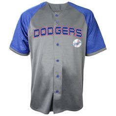 Los Angeles Dodgers Stitches Glitch Jersey - Charcoal/Royal