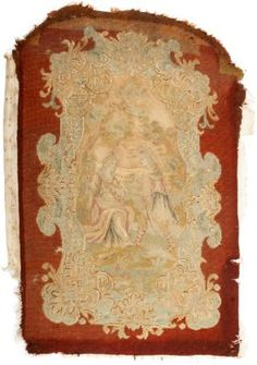 Antique needlepoint tapestry.
