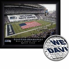 Make your favorite football fan feel important on his special day with our personalized NFL Stadium Print. This high-quality photograph is available for all NFL Seattle Seahawks Stadium, Framed Wall Art, Framed Prints, Nfl Stadiums, Lakeside Collection, Field Day, Football Fans, Stunts, Special Day