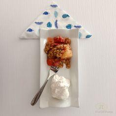 """Strawberry-pineapple Cornbread Crisp with Cinnamon Whipped Cream"" Checkout the blog for the recipe!!! #dessert #cornbread #homecooking  #foodporn"