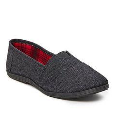 This Black Denim Slip-On Sneaker is perfect! #zulilyfinds
