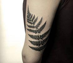 Walking fern, perfect black tattoo work done by tattoo artist Damian Orawiec Mini Tattoos, Leg Tattoos, Black Tattoos, Small Tattoos, Sleeve Tattoos, Cool Tattoos, Tatoos, Tribal Tattoos For Men, Tattoos For Guys