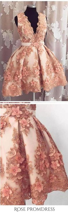 Formal Prom Dresses, Cute A-line Deep-V Lace Appliqued Short Homecoming Dresses Whether you prefer short prom dresses, long prom gowns, or high-low dresses for prom, find your ideal prom dress for 2020 Dresses Short, Sexy Dresses, Evening Dresses, Formal Dresses, Mini Dresses, Ball Dresses, Beaded Dresses, Pretty Dresses, Beautiful Dresses