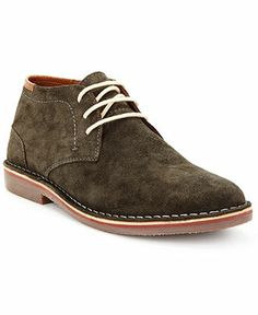 Kenneth Cole Reaction Real-Deal Suede Chukka Lace-Up Boots - Boots - Men - Macy's