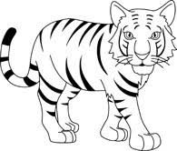 31++ Baby tiger clipart black and white info