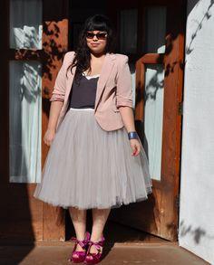 Ouma skirt, Gap romper, Asos jacket, Topshop heels, Ralph Lauren sunglasses, Unearthed cuff
