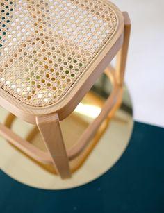 Close shot of the Cane stool