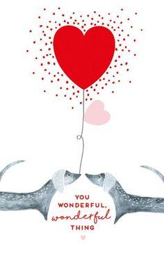You, Wonderful, Wonderful, Thing, Dachshund Valentine Greeting Card