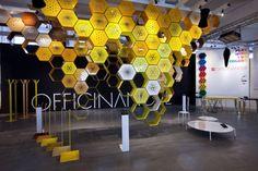 Honey Way, étagère sans porte modulaire de forme hexagonale