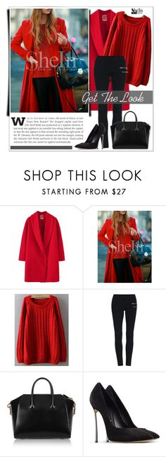 """""""Get The Look: SheIn"""" by water-polo ❤ liked on Polyvore featuring Givenchy, Casadei, Sheinside, polyvoreeditorial and waterpolo"""