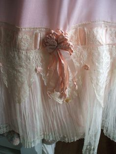 FABULOUS 1890s Silk & FRENCH LACE Victorian Petticoat by adanta3
