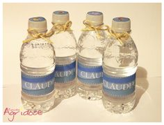 Garrafinha de água sem gás Nestlé, 300ml personalizada com o tema Pequena Sereia. *O rótulo NÃO é a prova d'água. R$ 3,00 Visite: http://www.elo7.com.br/estudioagridoce