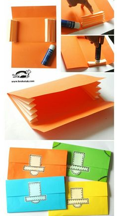 Değişik, kilitli zarf yapımı
