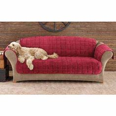 Sure Fit Deluxe Pet Sofa Cover - A corner sofa is a fantastic decision to ramp up your living room if you live in small ap Sofa Throw Cover, Pet Sofa Cover, Recliner Cover, Loveseat Slipcovers, Sofa Covers, Furniture Covers, Sofa Furniture, Suede Sofa, Kitchen Sofa