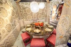 Echo Design's area was inspired by its latest fabric collection, Heirloom India, and sought to transport guests to a world of pattern and co... Photo: Gustavo Ponce for BizBash