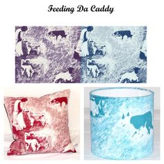 'Feeding Da Caddy' design which is based on the memory of going with my Aunty to feed her caddy when I was about 5yrs old, and the lamb went in the huff if you spilt milk on his nose :)