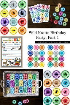 Wild Kratts Birthday Party: Part 1 (Invitations & Discs) from NeatOnTheInside.com. This post includes free printable creature power discs that maximize print space and include authentic colors and images from the show. It also includes discs made just for fun as well as blank discs so you can make your own.