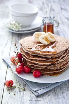 ... vegan wheat flour pancakes ...