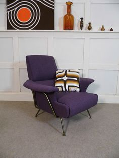 Rare Stylish Vintage Retro Mid Century G PLAN brass Armchair 50s 60s restored | eBay