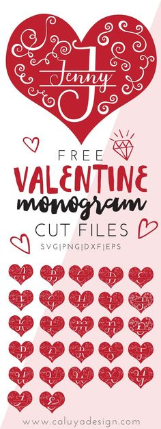 FREE Valentine Heart Monogram SVG cut file download. Free Valentine Heart monogram SVG, PNG, EPS, DXF cut file for Cricut, Cameo Silhouette and other major Cutting machines! Valentine Svg file, Free Valentine SVG file, Free Valentine cut file,  Valentine SVG, Free Valentine SVG