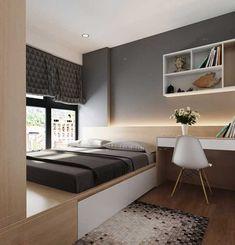 Small Room Design Bedroom, Bedroom Furniture Design, Home Room Design, Home Decor Bedroom, Modern Bedroom, Bedroom Ideas For Small Rooms, Small Bedroom Interior, Small Apartment Design, Condo Interior