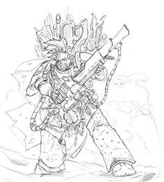 Noise Marine,Slaanesh,Chaos (Wh 40000),Warhammer 40000,warhammer40000, warhammer40k, warhammer 40k, ваха, сорокотысячник,фэндомы