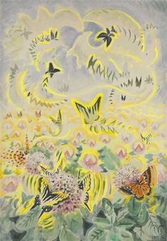 Artwork by Charles Burchfield, Butterfly Festival, Made of watercolor, gouache and pencil on paper laid down on board