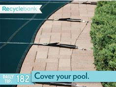 Cover your pool. It can save an average of 1,000 gallons of water a month, reduce up to 80% in heat evaporation and if you use pool chemicals, there will be 70% less evaporation of them into the air.