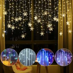 Outdoor Christmas Light Curtain Snowflake LED String Lights Save this photo on your board if you ❤️ it.