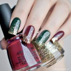 68 Trendy Nail Art Designs to Inspire Your Winter Mood - Page 18 of 68 - Kornelia Beauty Xmas Nails, Holiday Nails, Fun Nails, Christmas Manicure, Simple Christmas Nails, Christmas Colors, Winter Christmas, Red Christmas Nails, Classy Christmas
