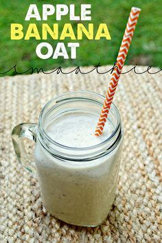 Are you looking for delicious and healthy smoothies? Check out this quick and easy Apple, Banana and Oat smoothie! Great treat for the whole family.