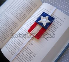 ITH American Flag Bookmark Machine Embroidery Design by KatieLDesigns. In The Hoop