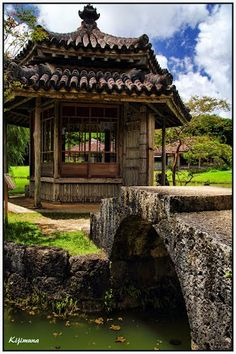 "Shikina-en Royal Garden ""Rokkakudo"" in Okinawa, Japan"