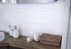 White bathroom wall tiles from Utopia Bathrooms. White Bathroom, Bathroom Wall, Wall Tiles, Bathrooms, Room Tiles, Bathroom, Bath, Wall Tile, Bathing