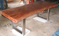 Dining Table Reclaimed Solid Slab Acacia Wood