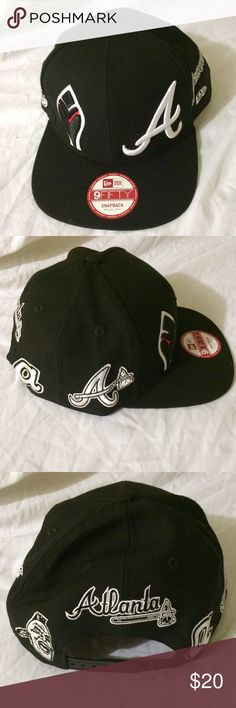 tomahawk baseball hat lucky brand cap braves black white