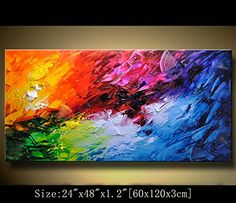 Original Abstract Painting, Modern Textured Painting,Impasto Landscape Textured Modern Palette Knife Painting,Painting on Canvas byChen Canvas Wall Art, Abstract Art Painting, Art Painting, Painting, Art, Modern Canvas Painting, Texture Painting, Abstract, Canvas Painting