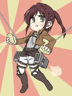 Sasha Braus (Attack on Titan) Attack On Titan English, Potato Girl, Aot Characters, Attack On Titan Fanart, Sarada Uchiha, Online Anime, Cute Chibi, Manga Games, Anime Couples