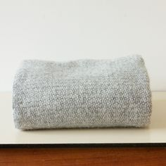 Illusion Grey Wool Blanket