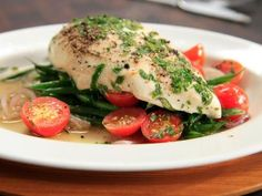 Chicken in a Sack: steamed chicken breasts in parchment paper with ...