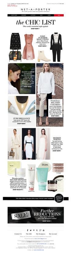 #newsletter Net-a-porter 01.2014 Up to 70% off sale, plus beauty must-haves and modern whites
