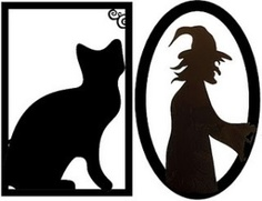 Halloween Silhouette Printables by georgina
