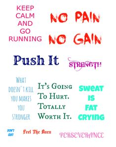 Fitness Motivation Printable Subway Art Free via @CleverPirate http://www.cleverpinkpirate.com