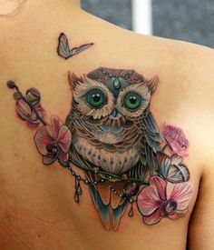 Why owl tattoos might be the tattoo for you. The greatest owl tattoo designs and artists in the world. Enjoy these amazing tattoos. Pretty Tattoos, Love Tattoos, Sexy Tattoos, Beautiful Tattoos, Body Art Tattoos, Tattoos For Women, Tatoos, Tattoo Women, Owl Tattoo Design